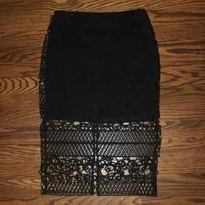 Express black skirt